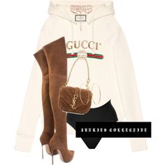 FEELIN' GUCCI by junkiescollective on Polyvore featuring polyvore, fashion, style, Gucci, SPANX, Yves Saint Laurent, Erickson Beamon, Lana and clothing