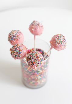 Rainbow sprinkle cake pops: http://www.stylemepretty.com/collection/2172/