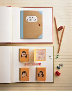 35 Great Scrapbook Ideas and Albums Books Within a Scrapbook. Create small albums for your scrapbook Travel Scrapbook, Scrapbook Pages, Scrapbook Photos, Wedding Scrapbook, Scrapbook Layouts, School Scrapbook, Birthday Scrapbook, Kids Scrapbook, Crafty Projects