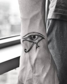 Eye of Horus Tattoo by victoriado hand 44 Timeless and Meaningful Egyptian Tattoo Designs Hand Tattoos, Body Art Tattoos, Small Tattoos, I Tattoo, Sleeve Tattoos, Tattoos For Guys, Cool Tattoos, 3rd Eye Tattoo, Script Tattoos