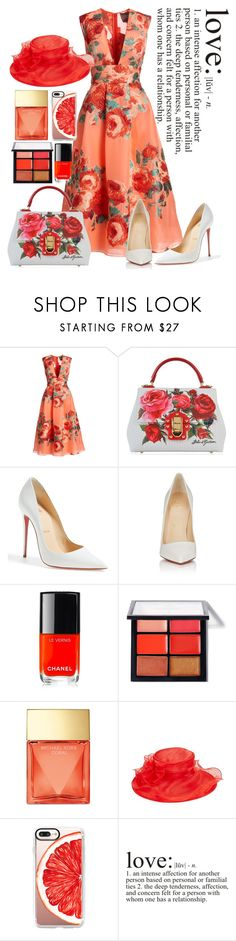 """""""Easter rose"""" by mydreamingcloset ❤ liked on Polyvore featuring Lela Rose, Dolce&Gabbana, Christian Louboutin, Chanel, Michael Kors, Giovannio, Casetify, WALL, Easter and Spring2017"""