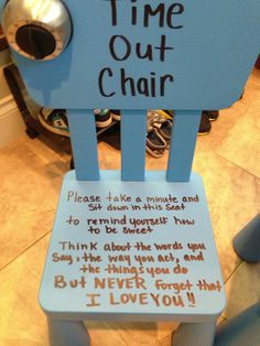 Time out chair - I need one of these!