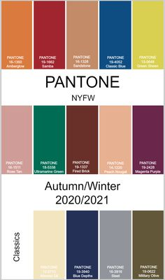 pantone 2020 color trends Pantone Autumn/Winter New York Fashion Week New York Fashion, 2000 Fashion Trends, Indian Fashion Trends, Summer Fashion Trends, Autumn Fashion, Fashion Blogs, Fashion Ideas, Street Style Outfits, Mode Outfits