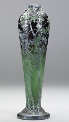 Overlaid etched and carved Daum Nancy vase c 1900