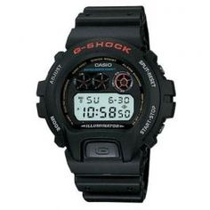 G Shock Digital Watch  G-Shock Classic Watch featuring Shock resistance, 200M WR, countdown timer, 1/100 sec. stopwatch and auto-calendar. Black resin band digital watch with neutral face.