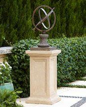Armilliary sphere on pedestal