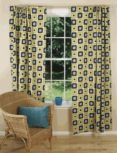 Illusions Curtains Mid Century Modern D Midcentury Family