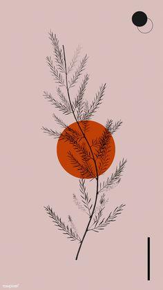 Orange by Sara Gisabella Designs L Wallpaper, Wallpaper Backgrounds, Handy Wallpaper, Vintage Backgrounds, Drawing Wallpaper, Phone Backgrounds, Wallpaper Quotes, Japon Illustration, Botanical Illustration