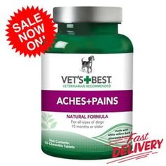 Vet's Best Aspirin Free Aches Pains Dog Supplements 50 Chewable Tablets  http://ift.tt/2BKsOnN #Pet #Supplies #Dog #Supplies #Health #Care #Vitamins #Supplements #Vet's #Best #Aspirin #Free #Aches #Pains #Dog #Supplements #50 #Chewable #Tablets  #trunostore