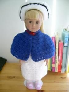 "Ode to Florence and cape - 18"" doll - Free Original Patterns - Crochetville"