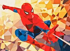 Geometric Marvel Comic heroe by Eric Dufresne