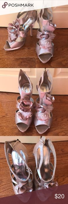 """Call It Spring Ruffled Cage Heels Call It Spring heels in size 7. Fits true to size. Heel height: 4 1/2"""" platform height: 1/2"""" worn once. Call It Spring Shoes Heels"""