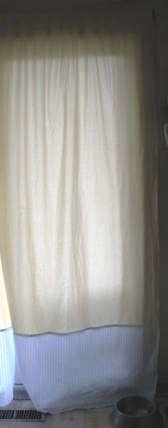 Curtains Ideas curtains made from bed sheets : DIY Shower Curtain out of flat sheets | Bathrooms | Pinterest ...