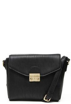 ee4372afe Promoções, Macadâmia bolsa tiracolo textura preta