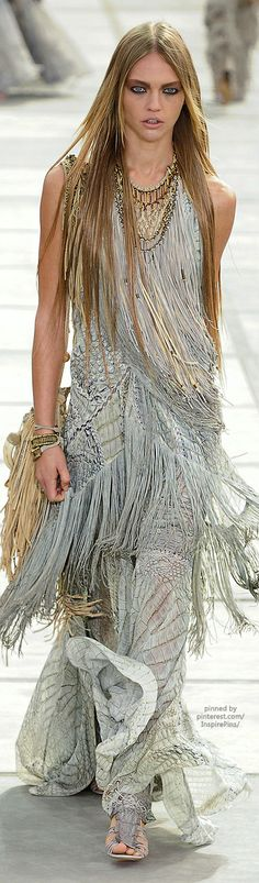 Roberto Cavalli I like the dress but the model looks anarexic
