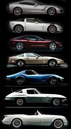Evolution of Corvettes  www.DriveBaby.com