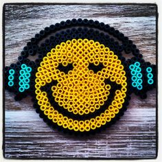 Smiley perler beads by miss_jessie_83