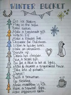 Winter bucket list I made based off a fall bucket list pin I saw on here! Winter bucket list I made based off a fall bucket list pin I saw on here! Bucket List With Boyfriend, Bucket List For Teens, Couple Bucket Lists, Gifts For Your Boyfriend, Bullet Journal Bucket List, Bullet Journals, Autumn Bullet Journal, Winter Fun, Winter Christmas