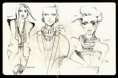 Mole fashion sketches/part 1 by Alena Lavdovskaya, via Behance