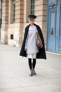 Metallic boots are the perfect punctuation to black and white looks.