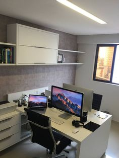 home office for two people