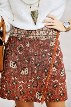 Ma Petite By Ana Jacquard Print Wrap Skirt Holiday Style Inspo                                                                             Source