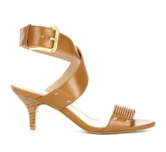 Open toe sandal with kitten heel