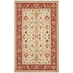 Found it at Wayfair - Chelsea Ivory & Red Area Rug