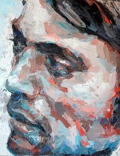 Figurative painter Henri Lamy (French: 1985) - Detail