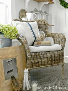 Wicker accent chair