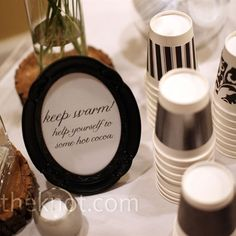 love this idea. i would have a hot apple cider station instead.