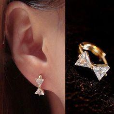 Bow Collar Rhinestone Earrings | LilyFair Jewelry, $19.99!
