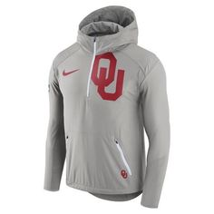 Nike™ Men's University of Oklahoma Fly Rush Lightweight Jacket (Grey, Size XX Large) - NCAA Licensed Product, NCAA Men's Fleece/Jackets at Academy ...