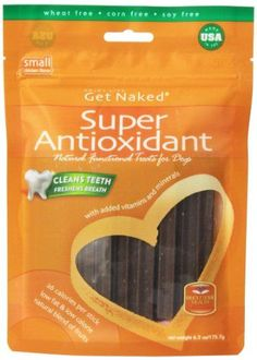 Get Naked Super Antioxidant Dental Chew Sticks for Dogs, Small/6.2-Ounce, 18 sticks/Pack -- Continue to the product at the image link.