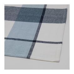 IKEA - RUTIG, Tablecloth, check pattern blue, The tablecloth both protects the table and creates a decorative table setting with atmosphere. Colors are retained wash after wash thanks to the yarn-dyed cotton. Grey Tablecloths, Ikea Usa, Party Needs, That Way, Bunt, Designer, Table Settings, Colors, Tie Dye