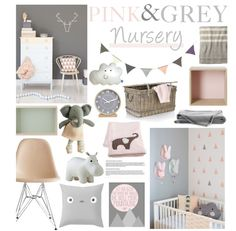 """Pink & Grey nursery!"" by tiannabrookie on Polyvore"