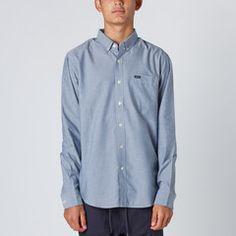 RVCA That'll Do LS Shirt - Distant Blue