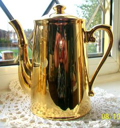 ROYAL WORCESTER~GOLD LUSTRE~FIREPROOF TEAPOT~SHAPE 3 SIZE 6~1~1/2 PINTS~EXC!