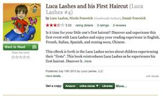 #LucaLashes is on GoodReads!  Check us out!  #haircut #kids #toddler