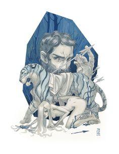 by J.A.W. Cooper #tiger #blue