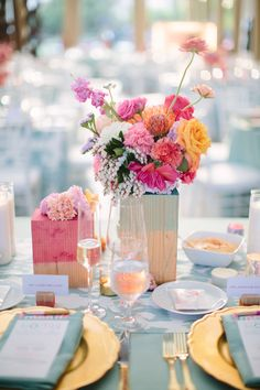 Pink. gold. mint. peach. modern. Amorology Weddings.
