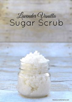 Homemade Lavender Vanilla Sugar Scrub DIY  Gift  Mother's Day  Teacher gift  Kid Made Gift  Pampering  Spa