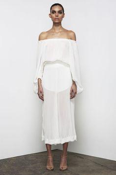 Shona Joy - Cumulus Pleated Culottes In White