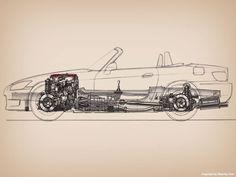Honda #S2000 Sketch