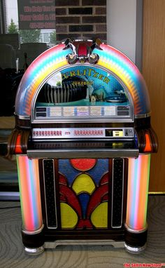 Survivor 1973 Wurlitzer 1050 USA Silver Age Jukebox Juke Box Coin Op Bubbler