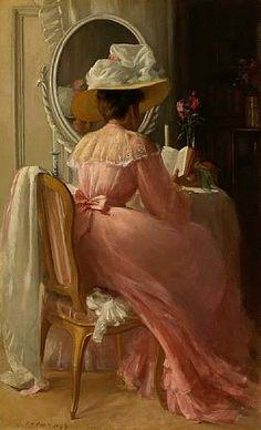 Patrick William Adam(1852-1929) — A Lady in Pink, 1899