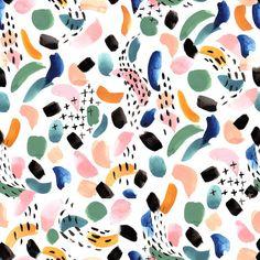 Surface Pattern Design by textile designer Lauren Lesley Poole, owner of Lauren Lesley Studio, LLC. Watercolor Fabric, Watercolor Pattern, Abstract Watercolor, Abstract Pattern, Graphic Patterns, Textile Patterns, Print Patterns, Pattern Print, Pattern Designs
