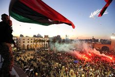 Libyans put aside woes to celebrate uneasy anniversary (Photo: Mahmud Turkia / AFP - Getty Images)