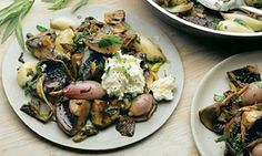 Yotam Ottolenghi's mushrooms, garlic and shallots with lemon ricotta recipe