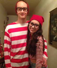 "My son ready for the Sadie Hawkins dance, famous couple ""Where's Waldo"" too cute!"